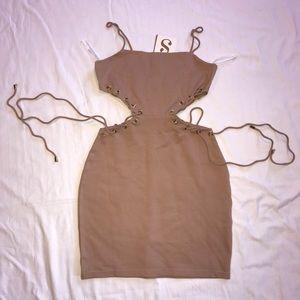 Dress w side cutouts.